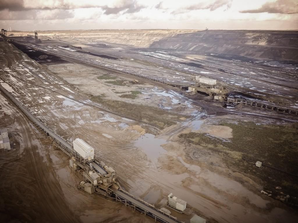 Aussicht auf den gesamten Tagebau
